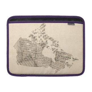 Old Sheet Music Map of Canada Map MacBook Air Sleeves