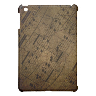 Old sheet musical score, grunge music notes cover for the iPad mini