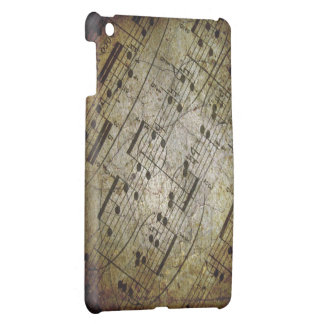 Old sheet musical score, grunge music notes iPad mini cover