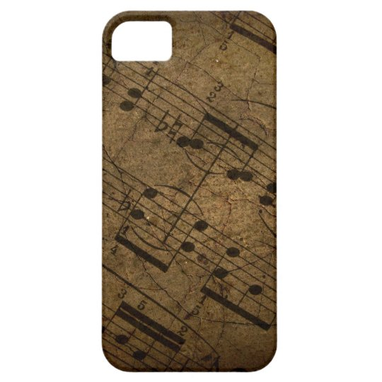 Old sheet musical score, grunge music notes iPhone SE/5/5s case