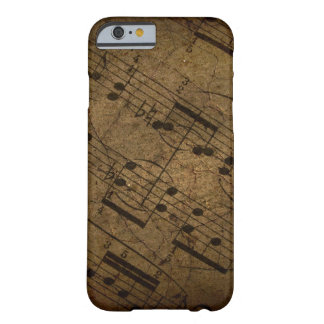 Old sheet musical score, grunge music notes iPhone 6 case