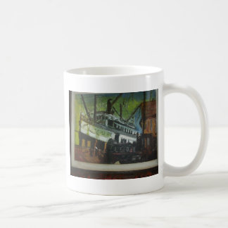 old ship at c dock coffee mug