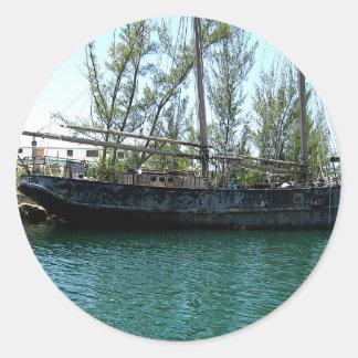 Old Ship Classic Round Sticker