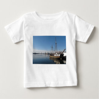 Old Ship in Calm Water Harbor Baby T-Shirt