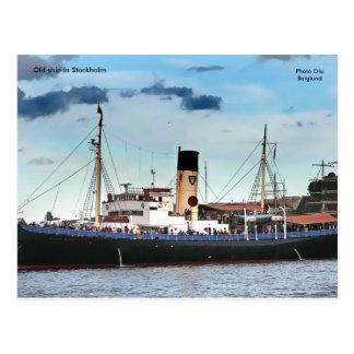 Old ship in Stockholm, Photo Ola... Postcard