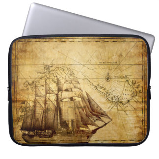 Old Ship Map Laptop Sleeve