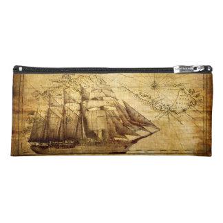Old Ship Map Pencil Case