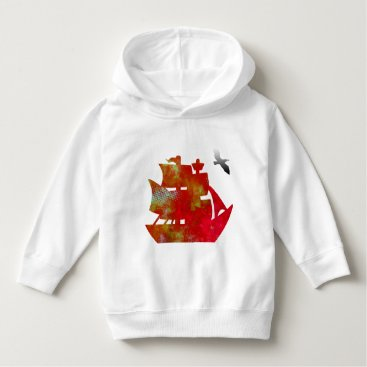 Beach Themed old ship Toddler Pullover Hoodie