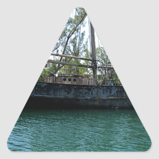 Old Ship Triangle Sticker
