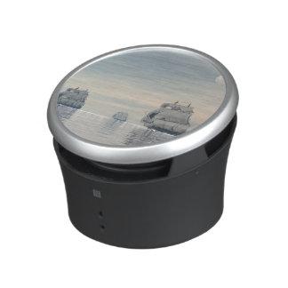 Old ships on the ocean - 3D render Bluetooth Speaker