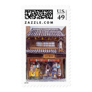 Old shop in Kawagoe Postage Stamp