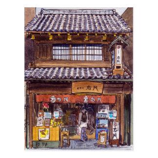 Old shop in Kawagoe Post Card