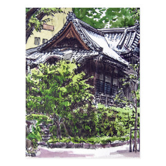 Old Shrine in Hamacho, Tokyo Postcard