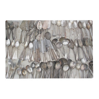 Old Silverware Placemat