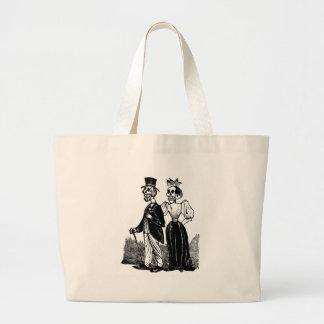Old Skeleton Couple circa early 1900s, Mexico Jumbo Tote Bag