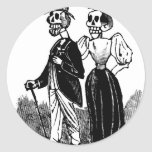 Old Skeleton Couple circa early 1900s, Mexico Stickers