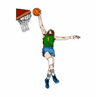 old skool basketball player photo cut out
