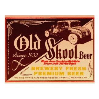 old skool beer postcard