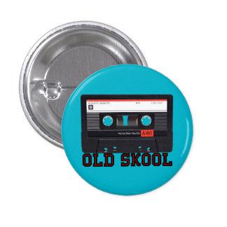 Old Skool - Cassette Tape Pinback Button