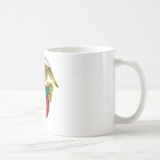 Old Skool Eagle Bulldog Anchor Classic White Coffee Mug