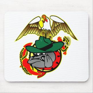 Old Skool Eagle Bulldog Anchor Mouse Pad