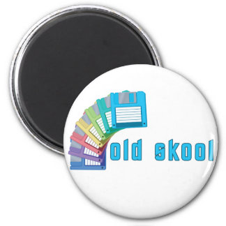 Old Skool Floppy Disks 2 Inch Round Magnet