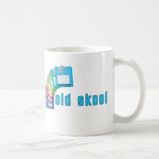 Old Skool Floppy Disks Classic White Coffee Mug