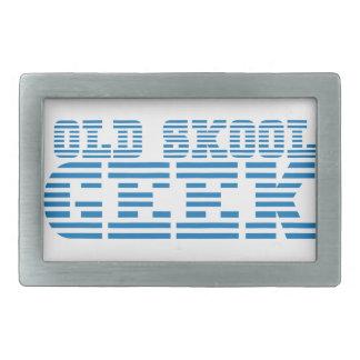 OLD SKOOL GEEK 80s computer design Rectangular Belt Buckle