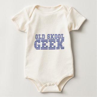 OLD SKOOL GEEK cute computer design Baby Bodysuit