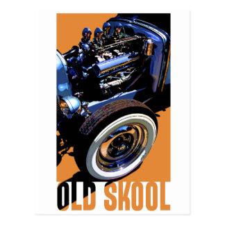 Old Skool Hot Rod. Postcard