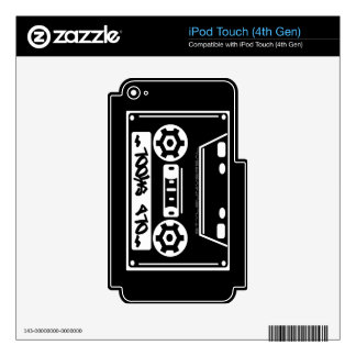 OLD SKOOL music player skin iPod Touch 4G Decal
