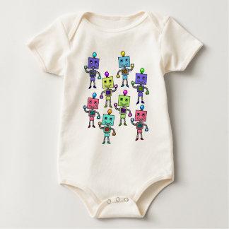 Old Skool retro Robots Baby Bodysuit