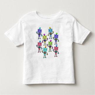 Old Skool retro Robots Toddler T-shirt