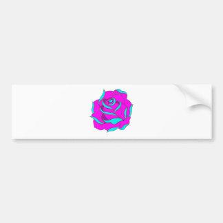 Old Skool Rose Heart centre Bumper Sticker