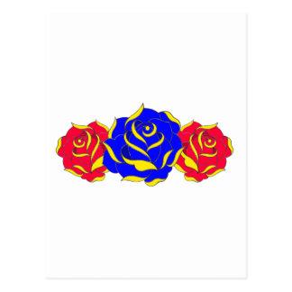 Old Skool Rose Postcard