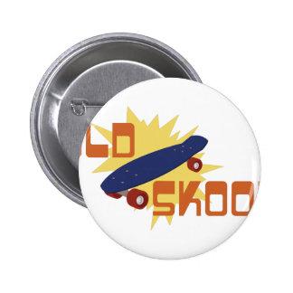 Old Skool Skateboard Button