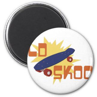 Old Skool Skateboard Magnet