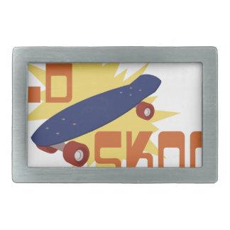 Old Skool Skateboard Rectangular Belt Buckle