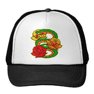 Old Skool Snake & Roses Tattoo Trucker Hat