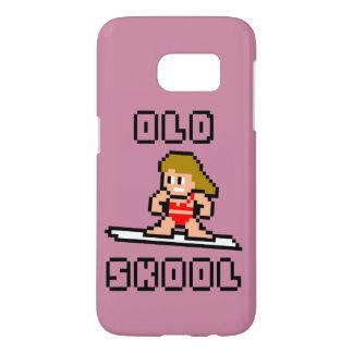Old Skool Surfing (pale female, Blk) Samsung Galaxy S7 Case