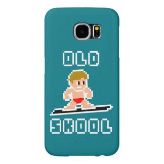 Old Skool Surfing (pale male, WHT) Samsung Galaxy S6 Case