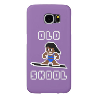 Old Skool Surfing (tanned female, WHT) Samsung Galaxy S6 Case