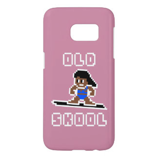 Old Skool Surfing (tanned female, WHT) Samsung Galaxy S7 Case