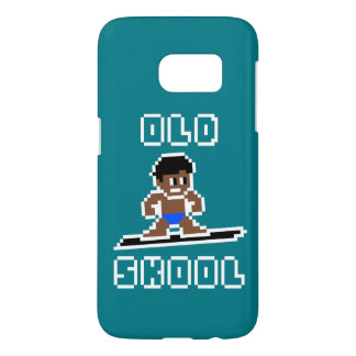 Old Skool Surfing (tanned male, WHT) Samsung Galaxy S7 Case