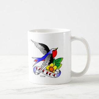 Old Skool Swallow Tattoo Classic White Coffee Mug
