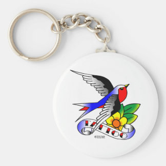 Old Skool Swallow Tattoo Keychain