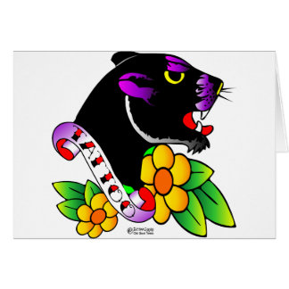 Old Skool Tattoo Black Panther Card