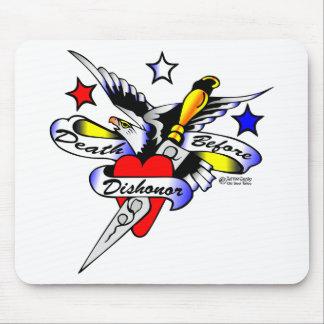 Old Skool Tattoo Eagle Dagger & Heart Mouse Mats