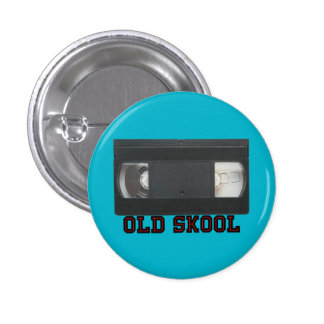 Old Skool - VHS Tape Button