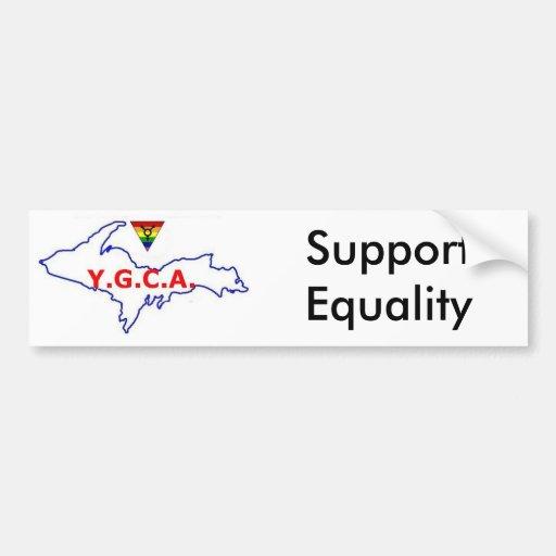 Old Skool YGCA Logo Bumper Stickers
